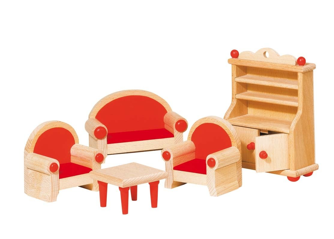Goki 51952 Puppenhausmbel Wohnzimmer Amazonde Spielzeug