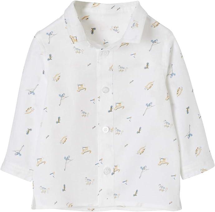 VERTBAUDET Camisa Estampada de Dinosaurios para bebé niño: Amazon.es: Ropa y accesorios