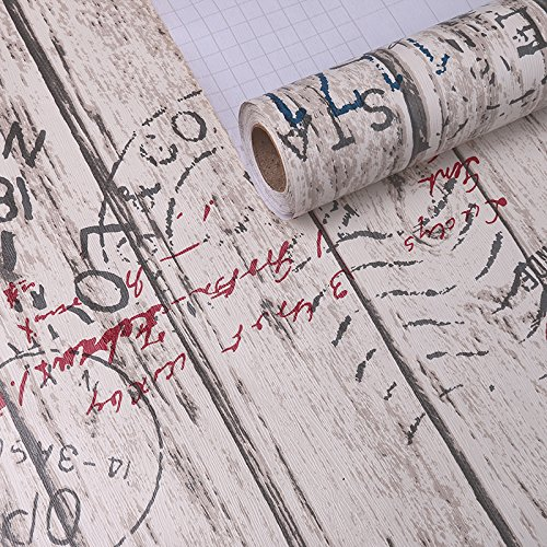 Jedfild Wall paper self-adhesive pvc wall thick paper of student hostels wallpaper desk wardrobe doors pane renovated, stamps affixed woodgrain - Woodgrain Background Stamp
