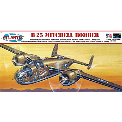 B-25 Mitchell WWII Bomber Plastic Model Kit 1/64 Atlantis Toy and Hobby: Toys & Games