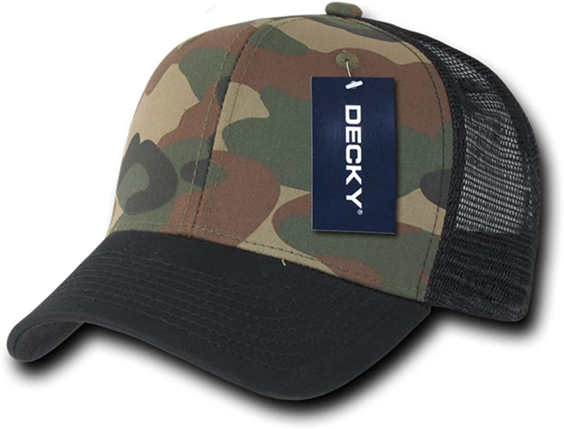 DECKY Inc Camo Curve Bill Hunter Trucker Mesh Baseball Caps 1054