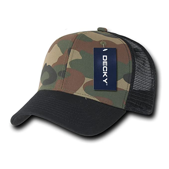 4c0dc74a5d2fe DECKY Inc Camo Curve Bill Hunter Trucker Mesh Baseball Caps 1054 Black  Woodland