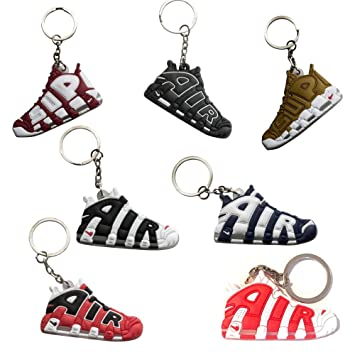 Nsi Industries Mini Sneaker Keychains – Rare Air Packs – GommaSilicone 2D Retro Sneakers Scarpa da Basket Portachiavi – Perfetto Sneakerhead Idea
