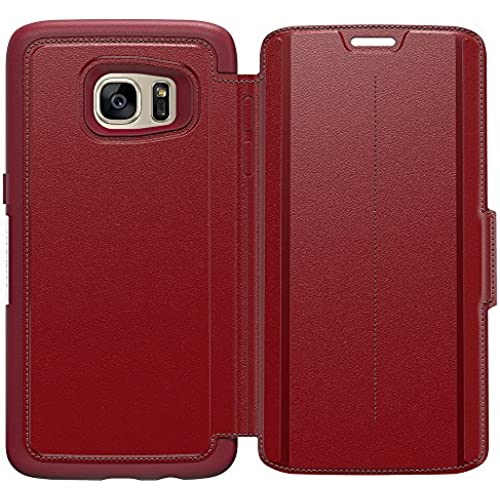 OtterBox STRADA SERIES Leather Wallet Case for Samsung Galaxy S7 Edge - Frustration Free Packaging - RUBY ROMANCE (FLAME RED/FLAME LEATHER) Sales