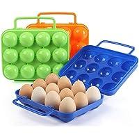 Soporte para huevos con asa plegable portátil 12