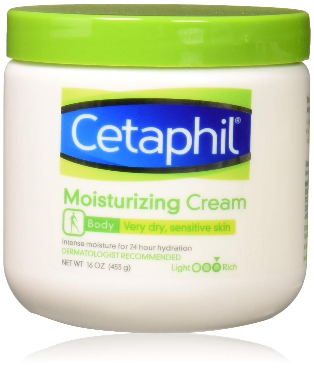 Cetaphil Moisturizing Cream for Very Dry/Sensitive Skin, Fragrance Free, 16 Ounce (Pack of 3)