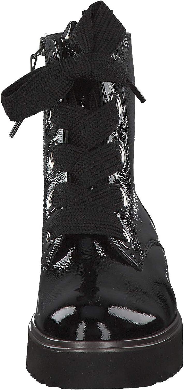 Paul Green 9432 005 Damen Sportiver Boots aus Lackleder Lederinnenausstattung Schwarz