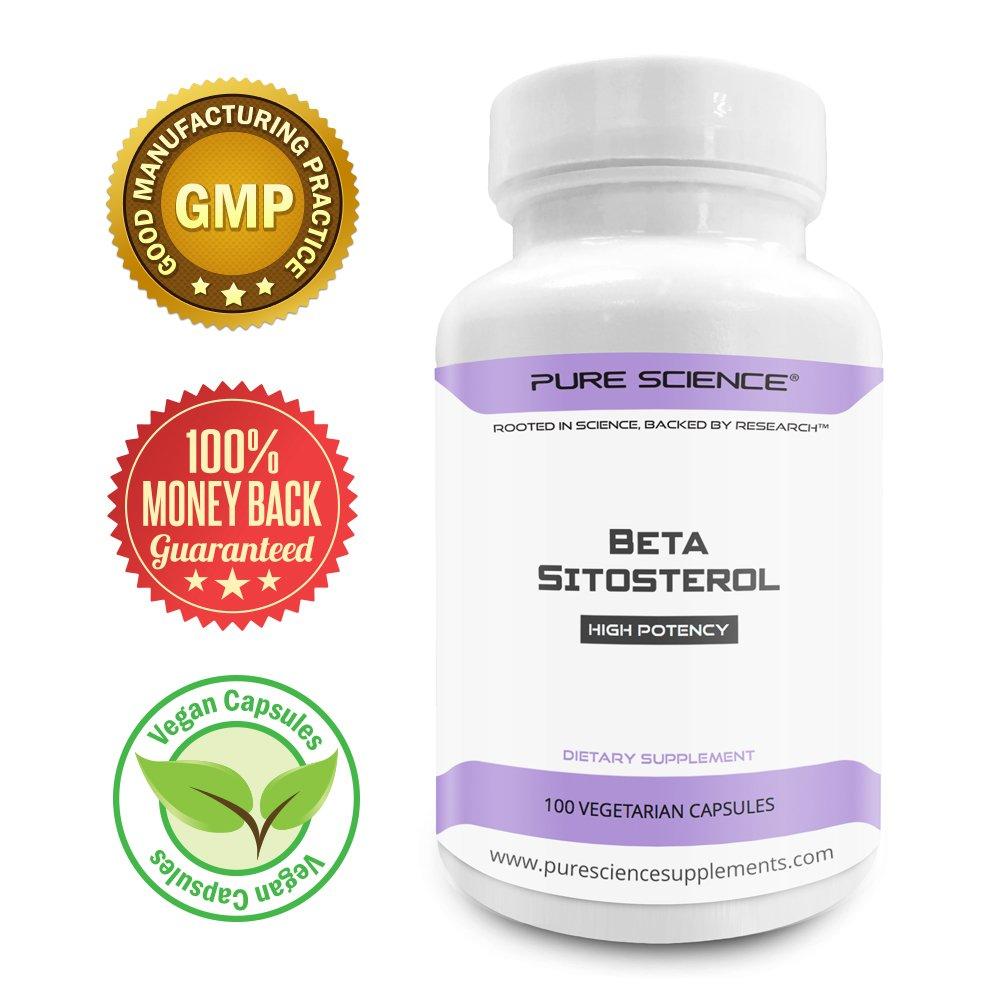 Pure Science Beta-Sitosterol Cápsulas 375 mg - 100 Cápsulas Vegetarianas: Amazon.es: Salud y cuidado personal