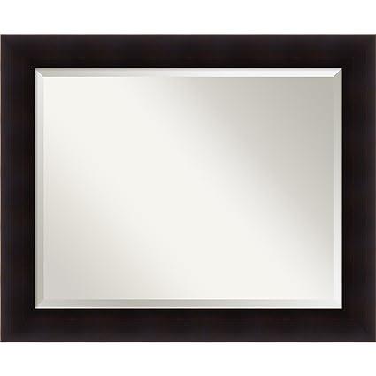 Amazon Com Bathroom Mirror Large Portico Espresso Outer Size 34 X