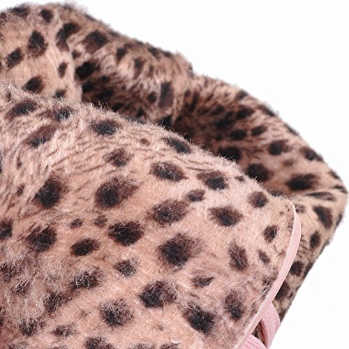 Carolbar Womens Lace Up Doux Mode Confort Caché Talon Cosplay Bottes Rose