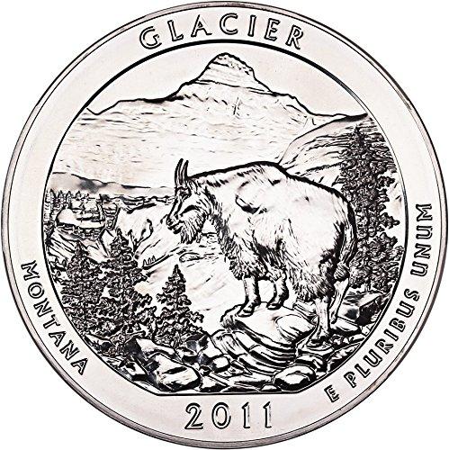 (2011 P 5 Oz America the Beautiful Silver Quarters Glacier Quarter MS69 NGC)