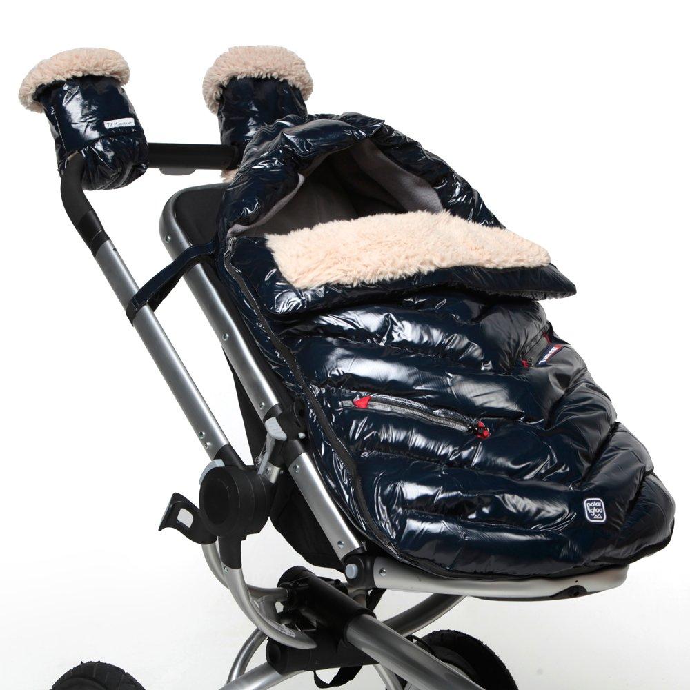 7AM Enfant Polar Igloo Baby Bunting Bag Adaptable for Strollers, Oxford Blue, Medium by 7AM Enfant (Image #3)