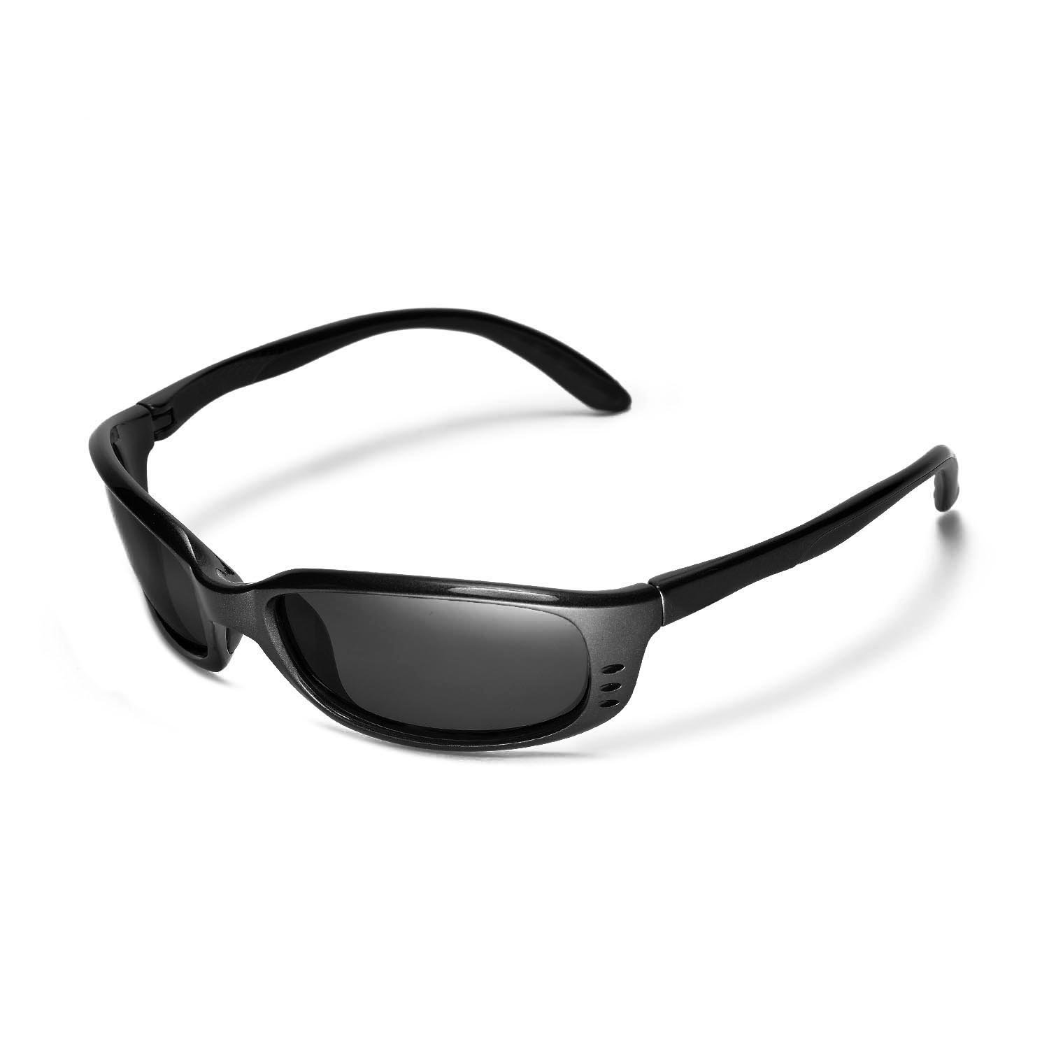 505c5cf0c1 Amazon.com  Walleva Replacement Lenses for Costa Del Mar Brine Sunglasses -  Multiple Options Available (Black - Polarized)  Clothing