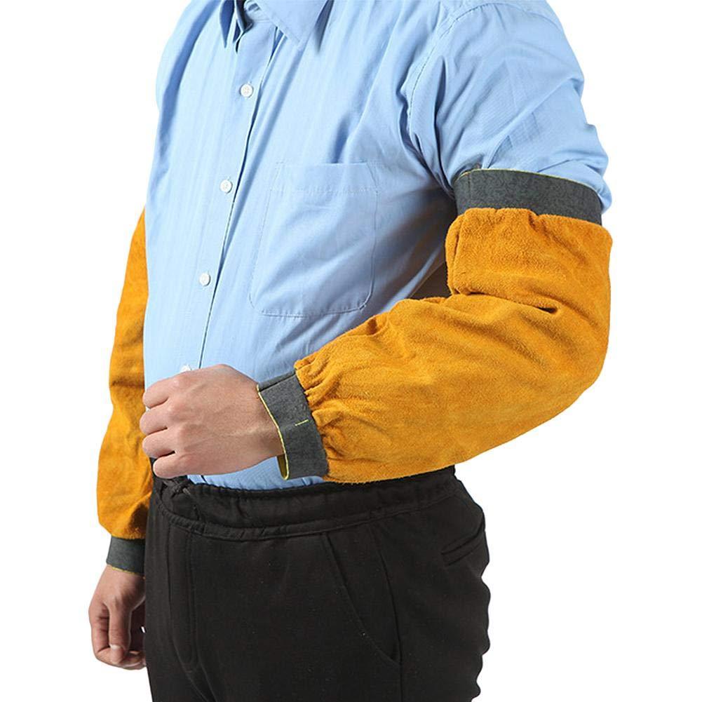 Cuir R/ésistant /À La Chaleur De Soudure Hommes Protection R/ésistante Aux Bras Manche Manchons De Protection en Cuir Soudeur /Ét/é Manches