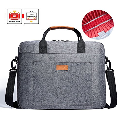 KALIDI 17 zoll laptoptasche Aktentaschen Handtasche Tragetasche Schulter tasche notebooktasche Laptop sleeve laptop hülle für bis zu 17.3 zoll für Alienware MSI Gaming Laptop mit Schultergurt Griff (Dunkelgrau)