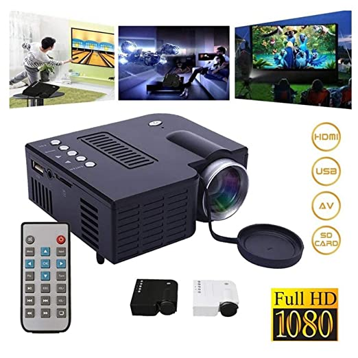 XSWE HD 1080P Multimedia Portátil Mini LED Proyector Cine en casa ...