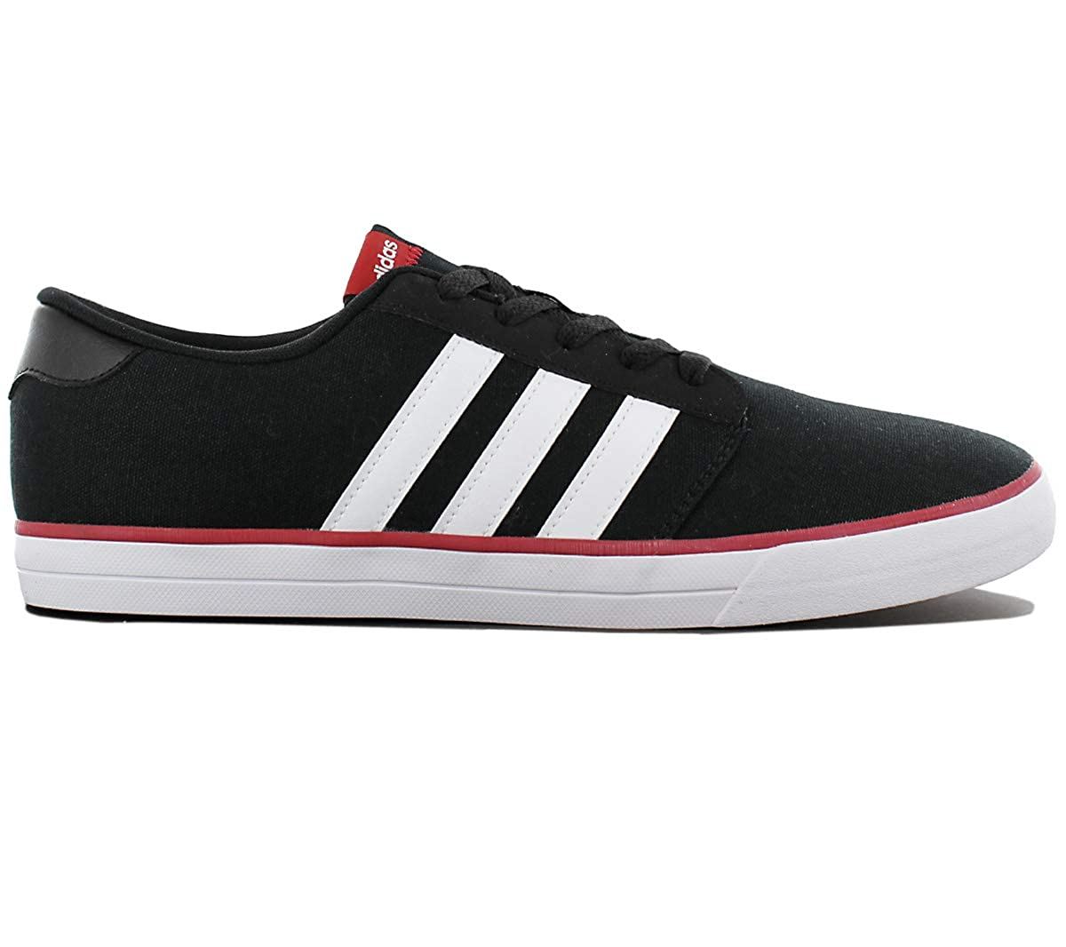 Adidas Skate VS Herren Schuhe Schwarz Schwarz Schwarz Canvas Turnschuhe Skaterschuhe Turnschuhe Sportschuhe 39ad97