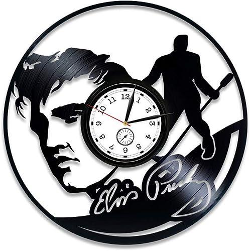 Kovides Elvis Presley Vinyl Wall Clock Elvis Presley Clock Elvis Presley Vinyl Clock Elvis Presley Vinyl Record Wall Clock Gift