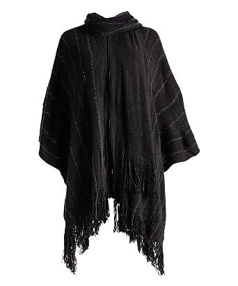 Elegant Womens Big Knit Pattern Scarf Knit Infinity Cape Pattern