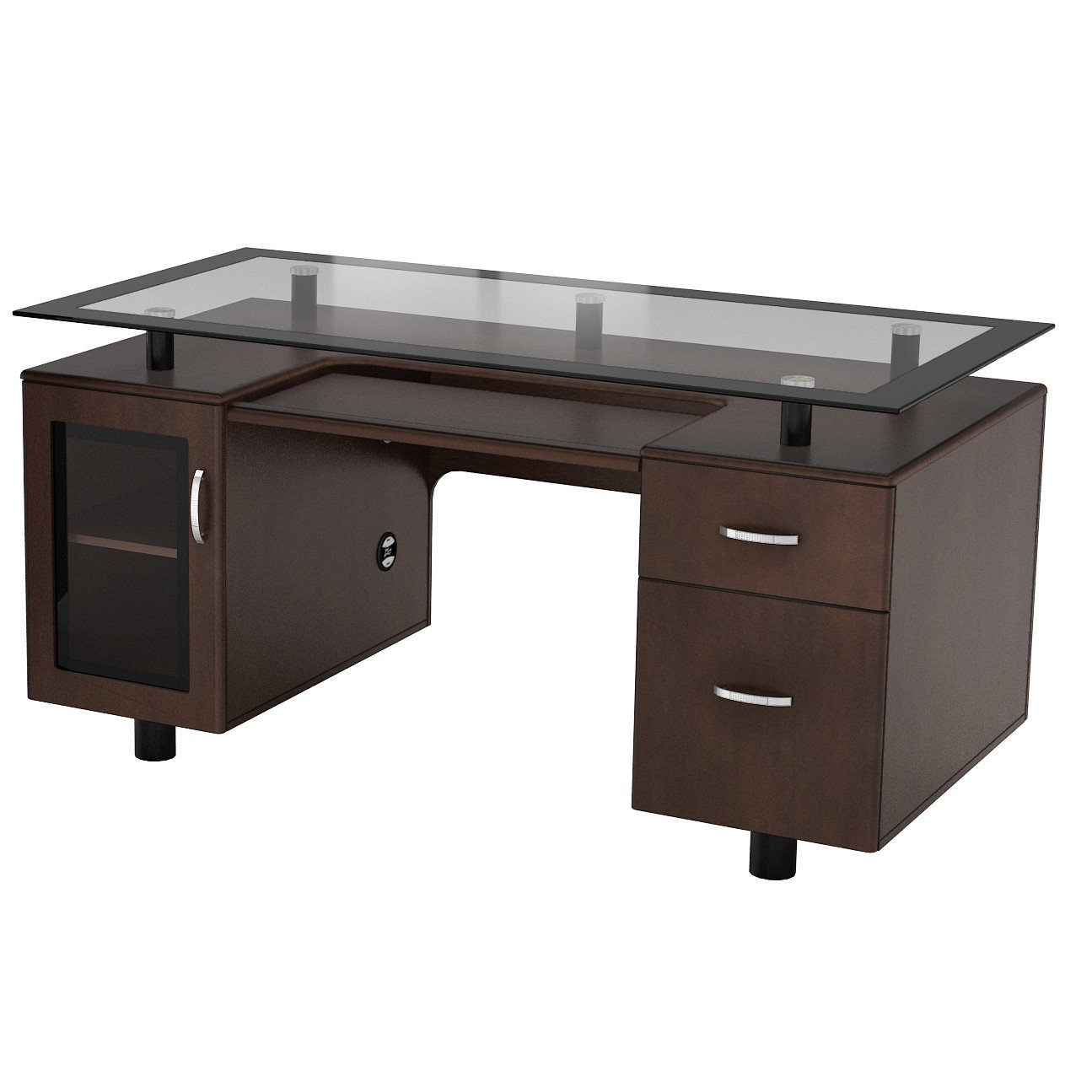 Amazon com zen modern executive desk home office desk home kitchen