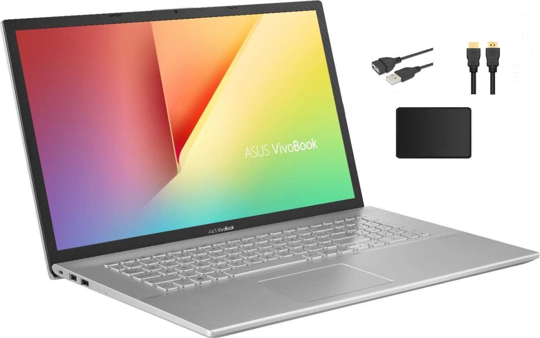 "ASUS VivoBook 17.3"" FHD IPS LED Backlight Premium Laptop Bundle Woov Accessory   AMD Ryzen 7-3700U   12GB DDR4 RAM   1TB SSD   USB Type-C   WiFi   HDMI   Windows 10"