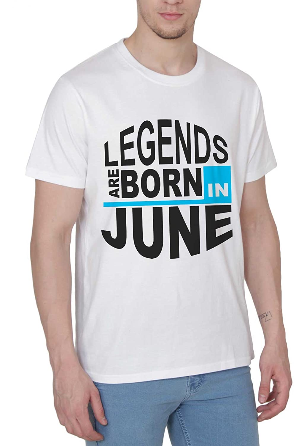 dfc9120a Printing Geeks Legends are Born in June Half Sleeves Mens Cotton T-Shirt:  Amazon.in: Clothing & Accessories