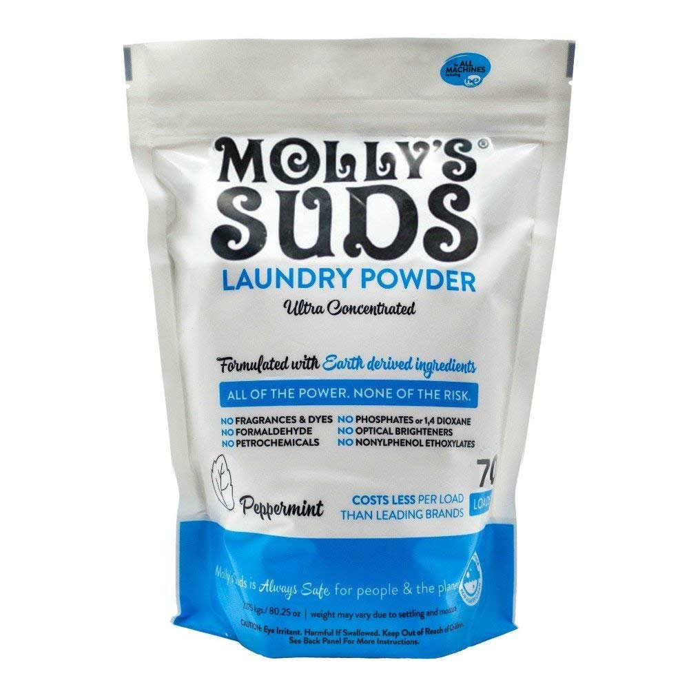 Molly's Suds Natural Laundry Powder, 70 Loads, 2lbs. 15oz. (1.33 KGS) Molly's Suds 852835006012