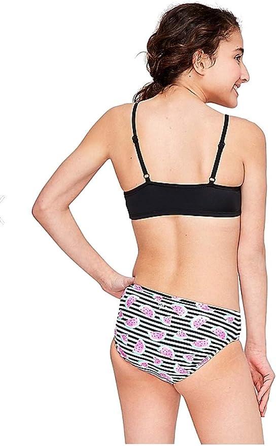 Justice Girls Watermelon Flounce Bikini Swimsuit NWT Pink Stripe Size 20