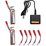 Holy Stone 5 In 1 Fast Battery Charger(Max Current 2.5 A Input) With 2 X Udi 818 A 3.7v 500m Ah Batteries