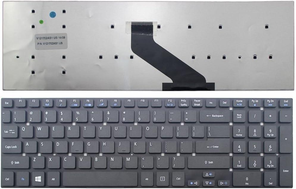 Looleking Black US Keyboard for Acer Aspire VA70 Packard V3-731G V3-7710 V3-7710G V3-772G TS13 TS13hr TS13-HR TS11 TS11hr TS11-hr TV44 TV44-HC TV11 TV11-CM TV43 LV11HC LV44HC LS11HR LS11SB Series