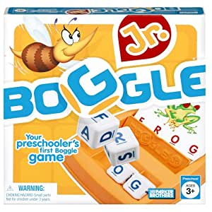 Hasbro Boggle Junior, Preschool Game, First Boggle Game, Ages 3 and up (Amazon Exclusive)