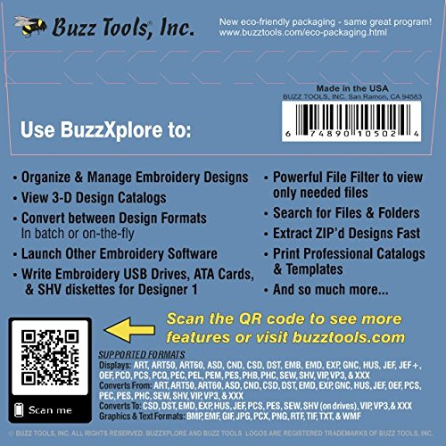 Amazon Buzzxplore V2 Premier Embroidery Design Management