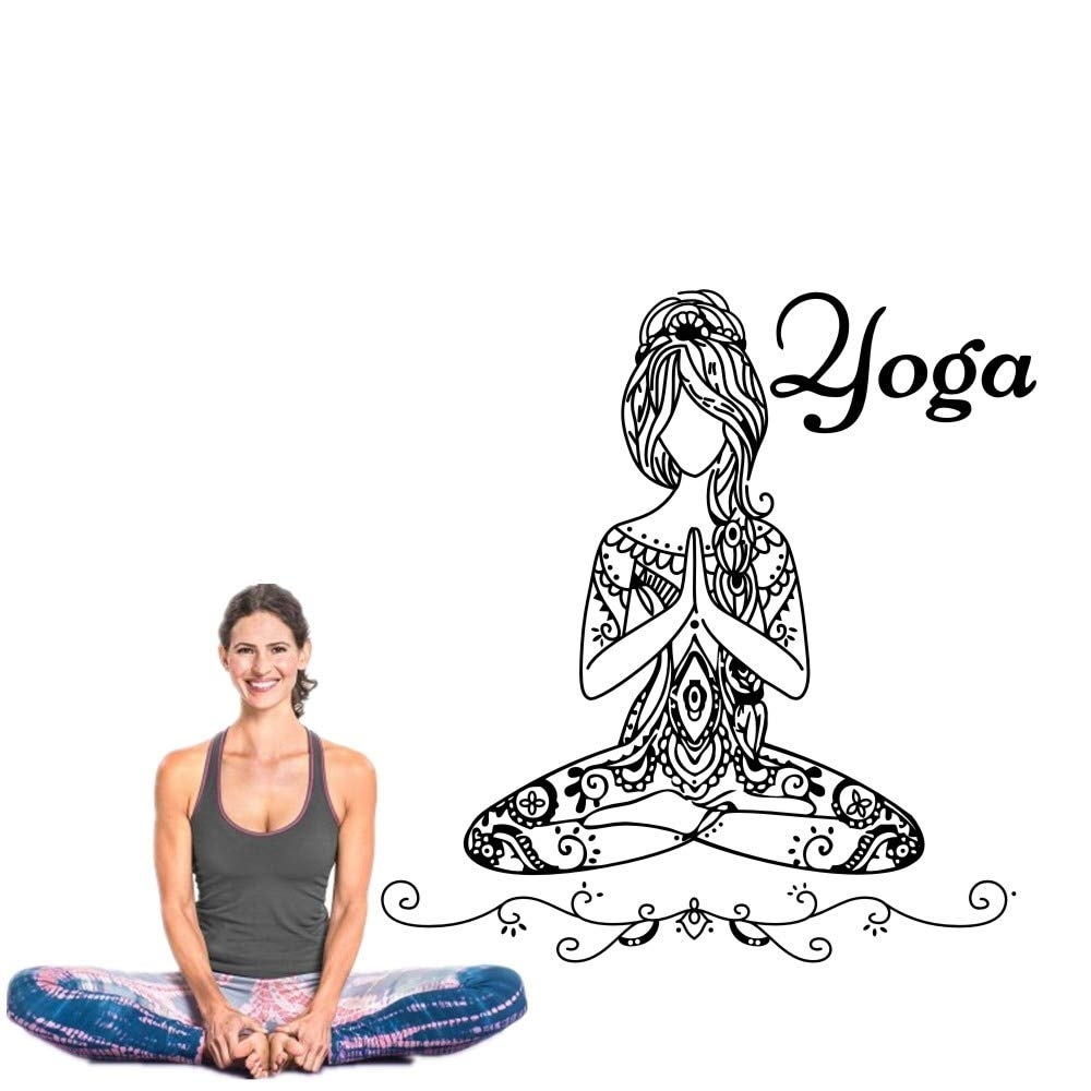 tzxdbh Chica de Buda extraíble Yoga Namaste Tatuajes de Pared ...