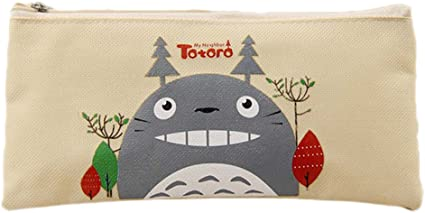 Jiquan My Neighbor Totoro - Estuche para lápices, estuche Oxford, organizador de monedas y accesorios para la escuela y la oficina: Amazon.es: Oficina y papelería