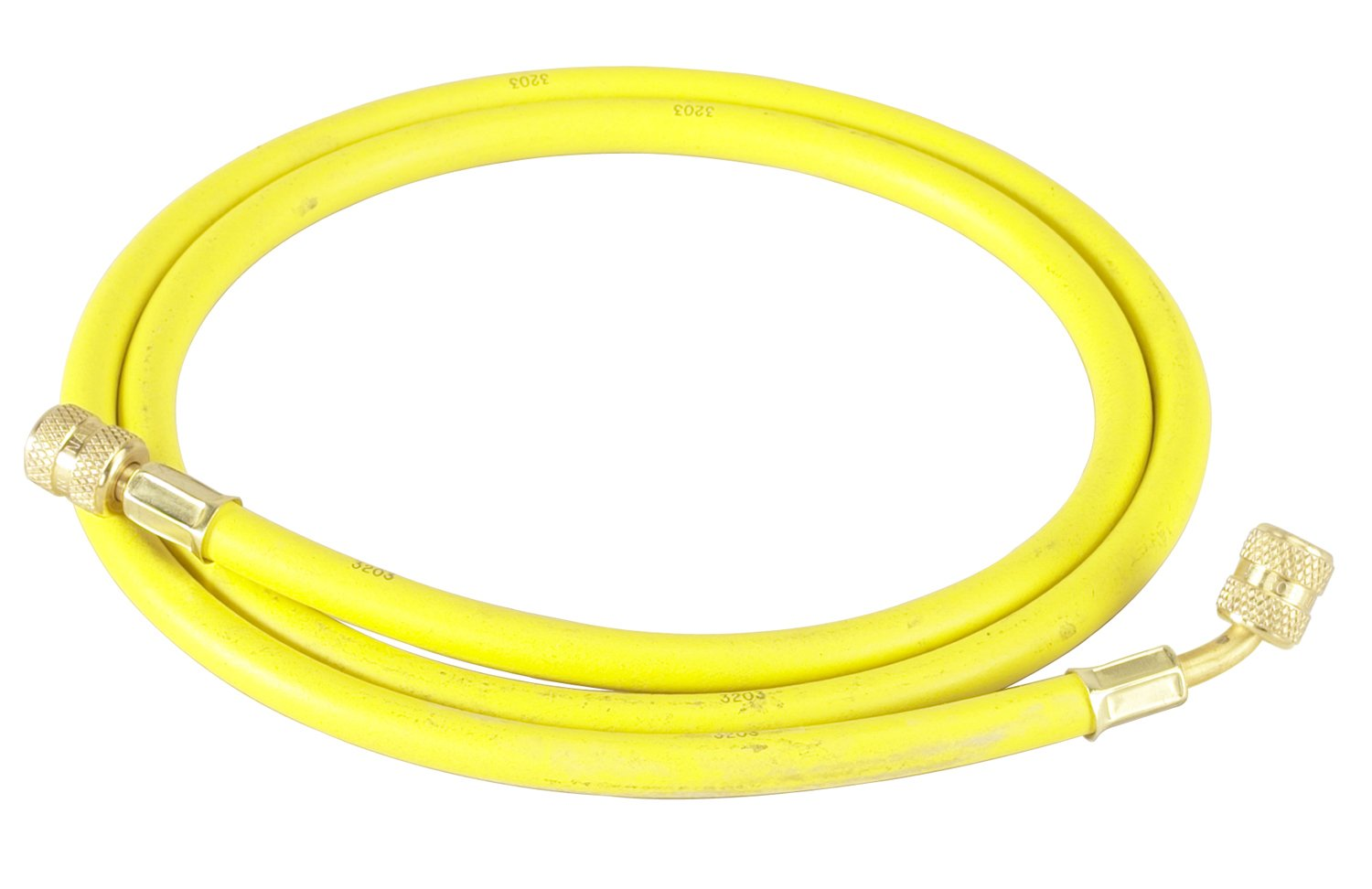 Robinair (31060 1/4'' Standard Hose with Standard Fittings - 60'', Yellow