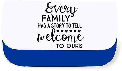 Cada familia tiene una historia que contar, Bienvenido a nuestra familia declaración embrague bolsa o