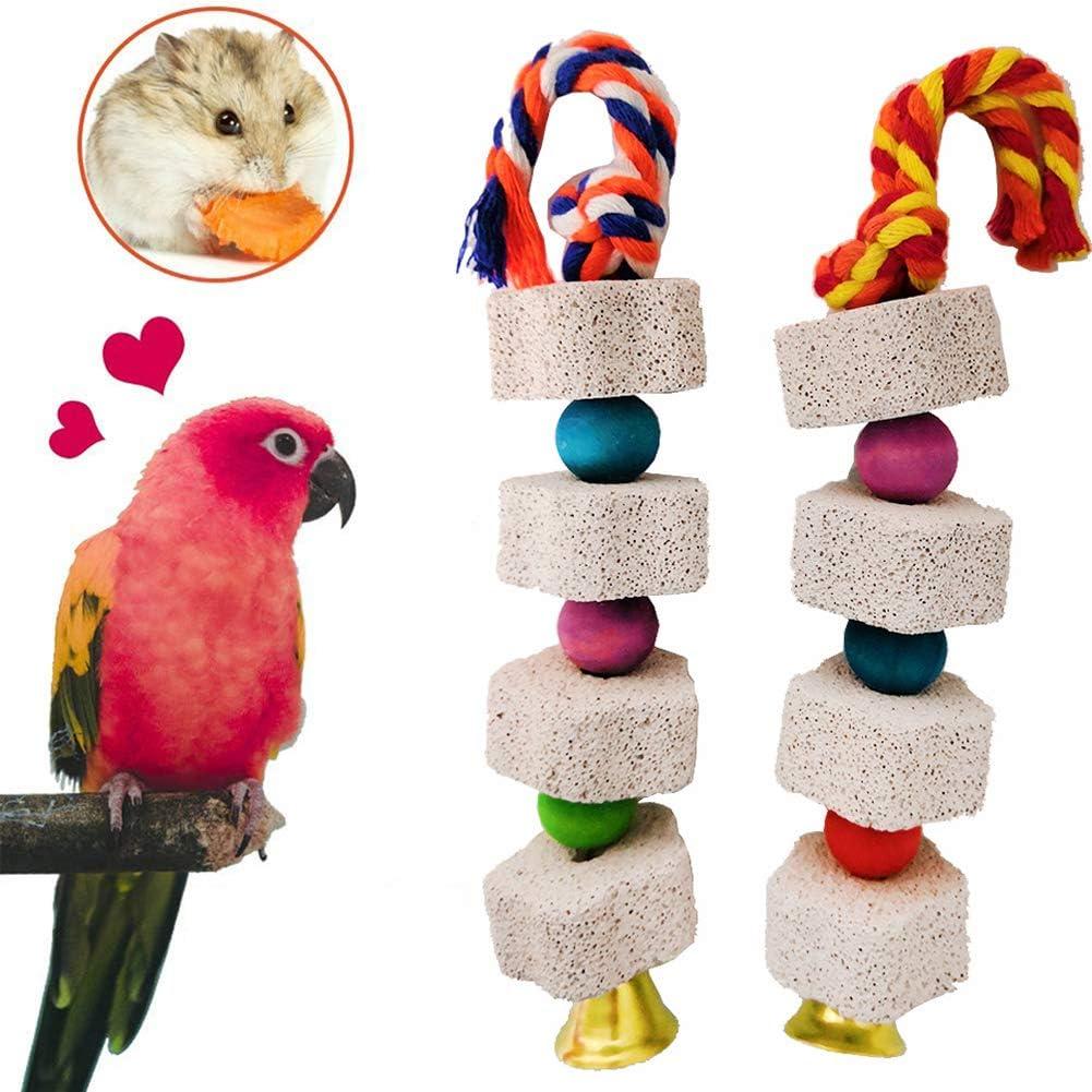 XDYFF Juguete del Pájaro Masticar Aves Escalera Columpio Chinchilla Ardilla Flor molares Loro Piedra de afilar: Amazon.es: Deportes y aire libre