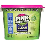 Pink Solution Clean Natural All-Purpose Cleaner, Concentrated Cleaning Paste for Glass, Floors, Carpets and Stainless Steel,