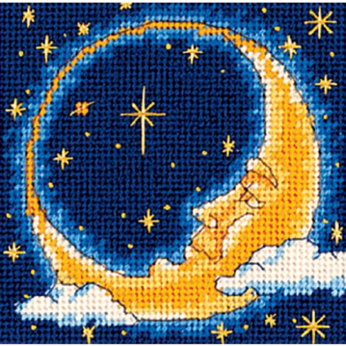 Dimensions Needlepoint Kit, Moon Dreamer Needlepoint, 5'' W x 5'' ()
