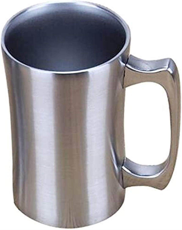 RENFEIYUAN Taza aislada, Taza de Acero Inoxidable, 20 oz Taza Grande, Taza de Cerveza de Doble Pared con asa, Taza de café aislada con Tapa Jarra de Cerveza