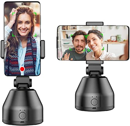 Smart Portable Selfie Stick,360/°Rotation Auto Face Object Tracking Camera Tripod Holder Smart Shooting Cell Phone Camera Mount Vlog Shooting Smartphone Mount Holder for All iPhone Android Phone