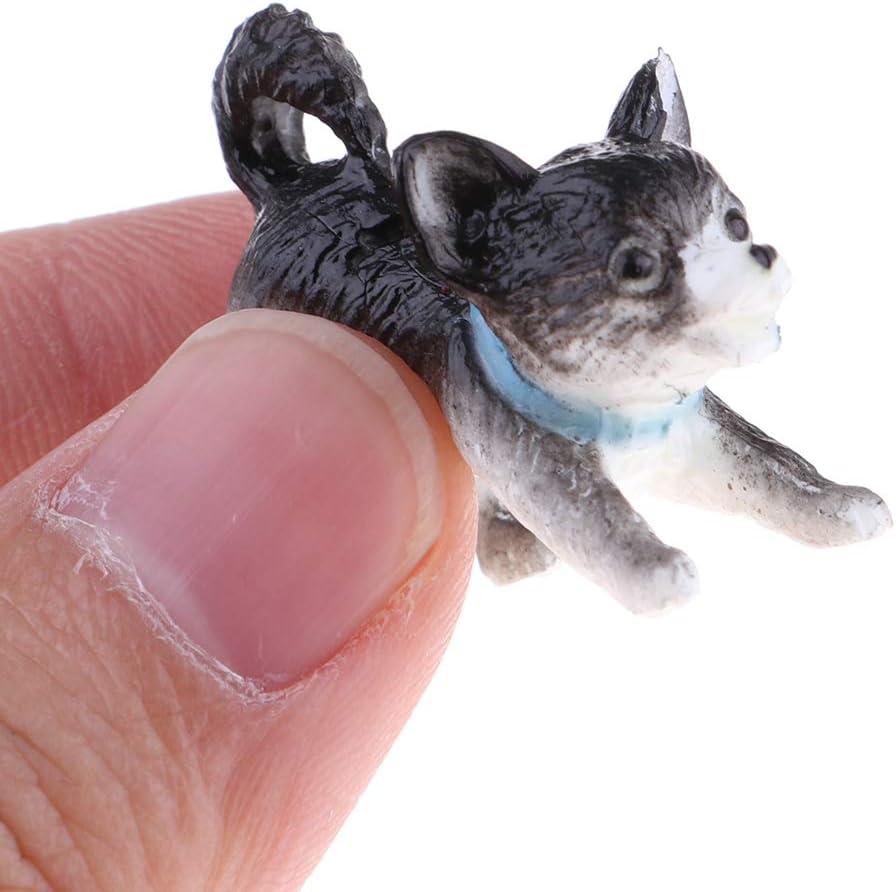 #N//A 6X 1//12 Dollhouse Miniature Pet Puppy Dog Model Animal Figures Decoration