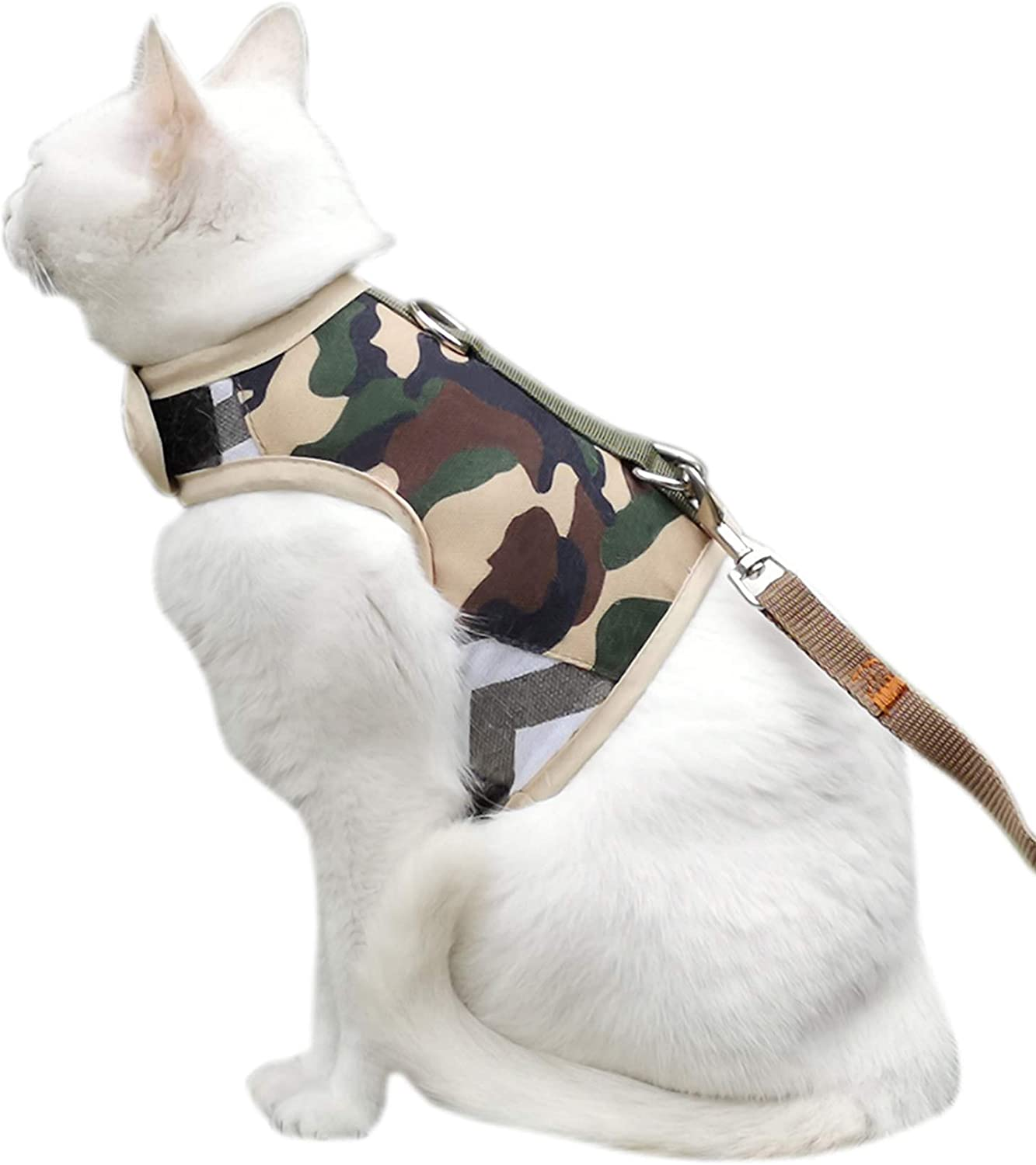 Escape Proof Cat Harness with Leash, Adjustable Cat Walking Jackets, Padded Cat Vest