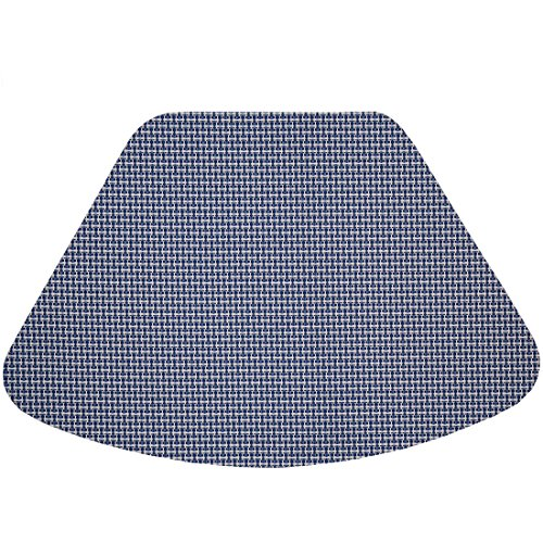 Set of 2 Blue/White Wipe Clean Wedge-Shaped Placemats for Round Tables