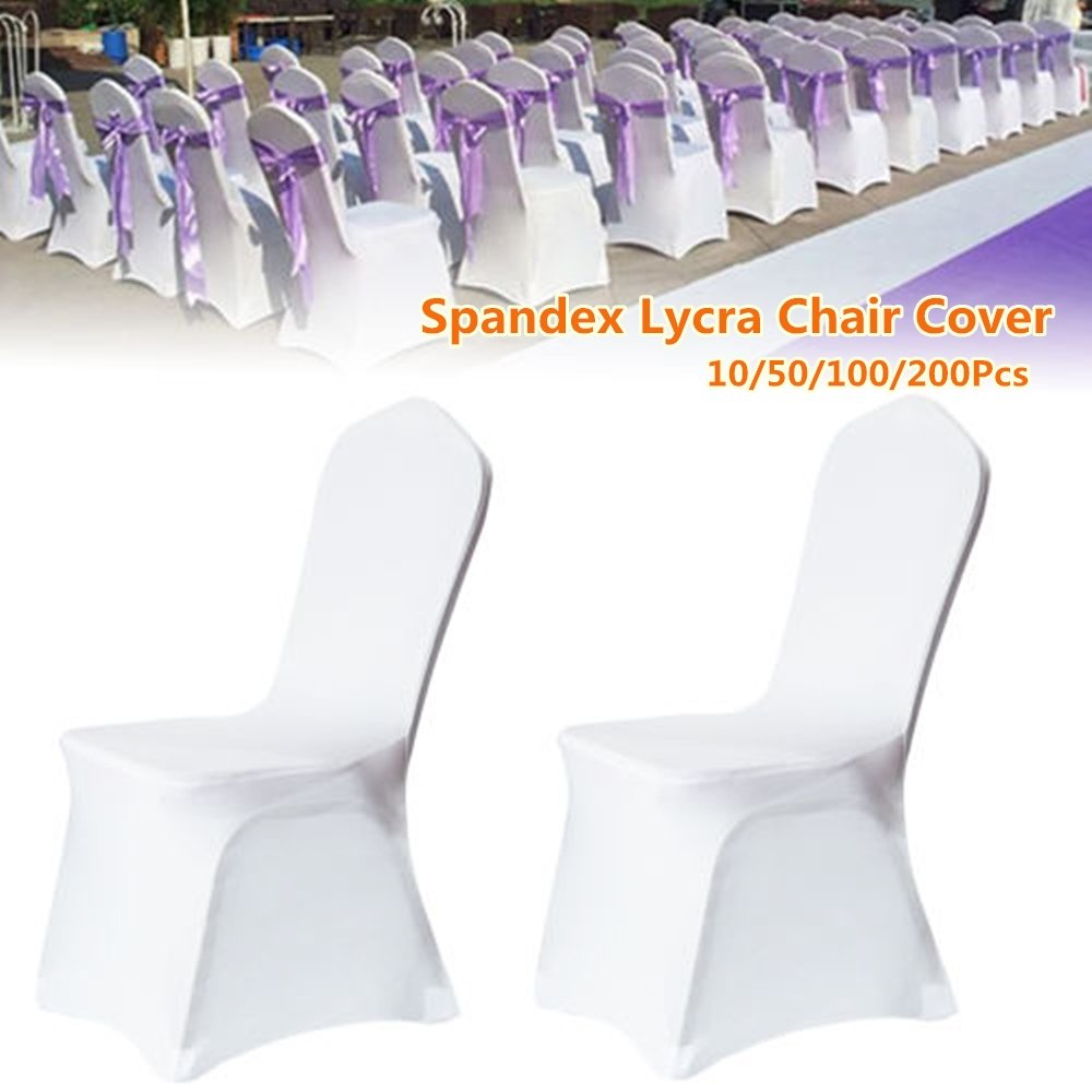 Incredible 100Pcs Universal Spandex Chair Covers Spandex For Wedding Supply Party Banquet Decoration Us Stock Download Free Architecture Designs Rallybritishbridgeorg
