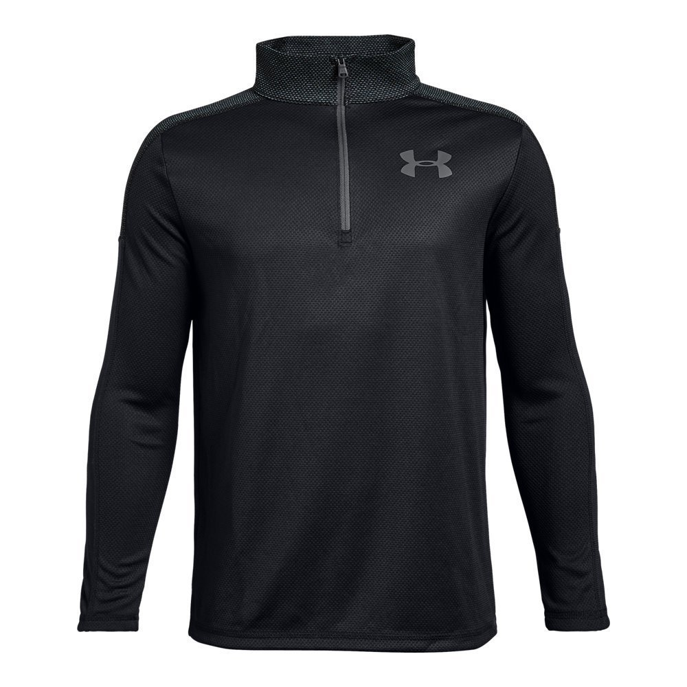 Under Armour Boys Tech 1/2 Zip, Black (001)/Graphite, Youth X-Small