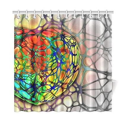 TIANYUSS Home Decor Bath Curtain Heart Medical Bless You Disease Heartbeat Polyester Fabric Waterproof Shower