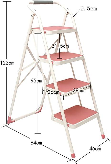 Qiangmei Escalera doméstica Escalera Multifuncional Escalera Plegable para el hogar Escalera Engrosada Escalera móvil de Tres Pasos (Color : 3): Amazon.es: Hogar