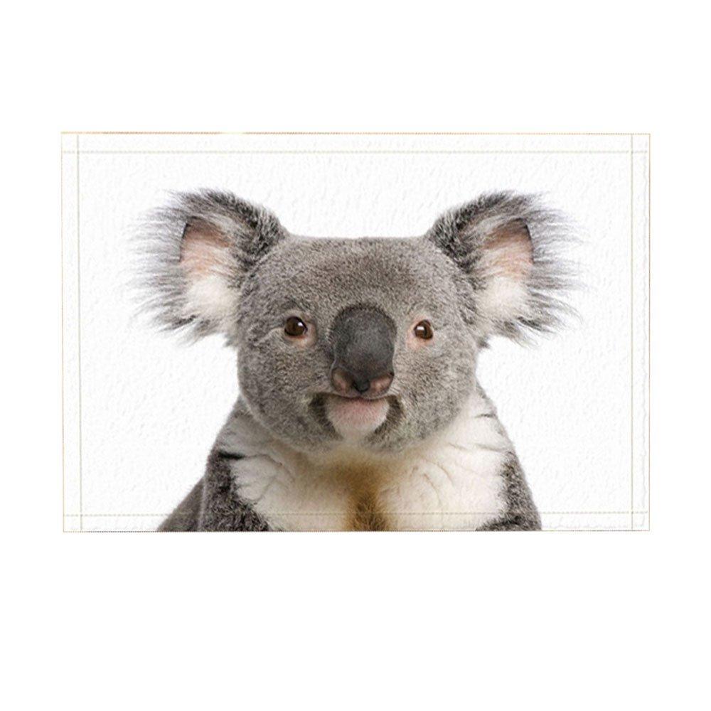 NYMB Animal Decor Bath Rug, Australian Koala white Background, Non-Slip Doormat Floor Entryways Indoor Front Door Mat Bathroom Rugs Memory Foam, Kids Bath Mat, 15.7x23.6in