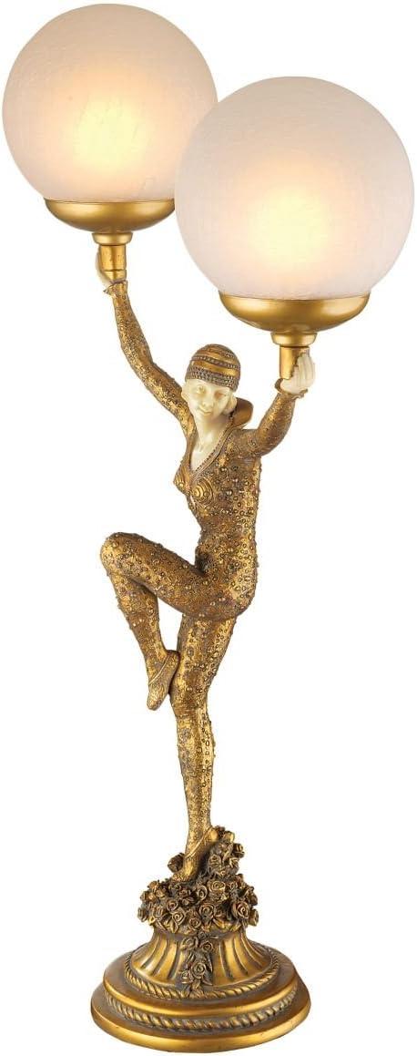 Design Toscano Dancer of Kapathurl Illuminated Sculpture,Gold